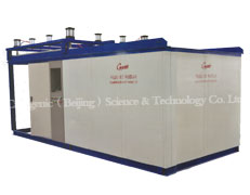 Cryogenic metal treating chamber